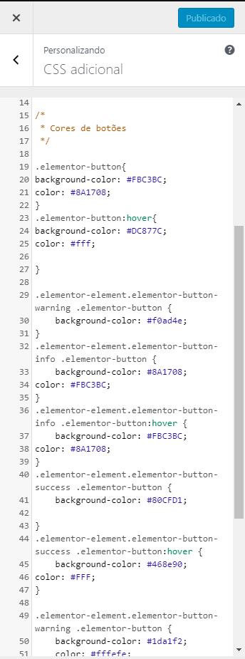 rodrigo milano css adicional wordpress - Como personalizar as cores dos botões do Elementor