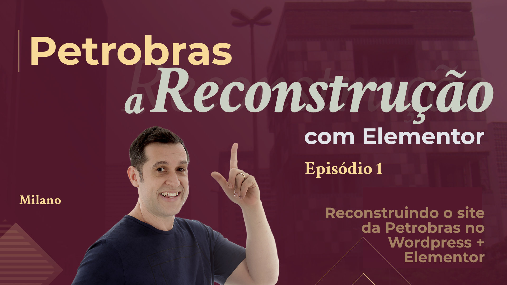 Reconstrução do site da Petrobras com Elementor e Wordpress